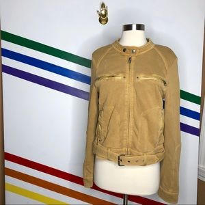 NEW Free People Moto sweatshirt jacket